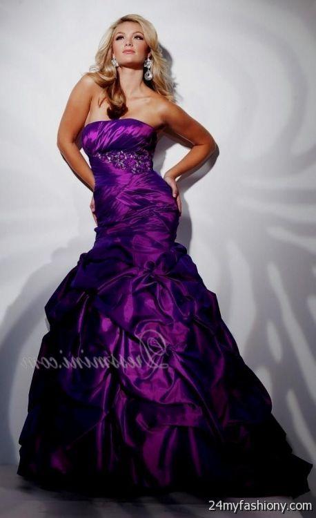 dark purple prom dresses mermaid looks b2b fashion