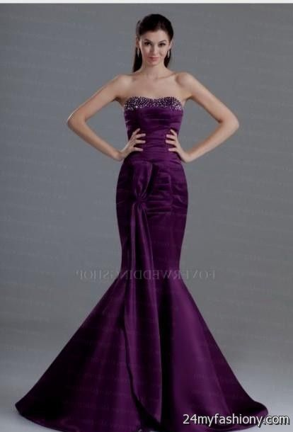 dark purple prom dresses mermaid 2016-2017 | B2B Fashion