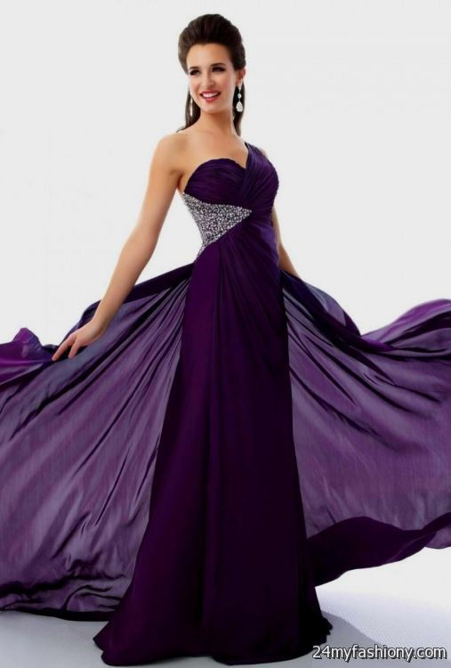 dark purple prom dresses with sleeves 2016-2017 » B2B Fashion