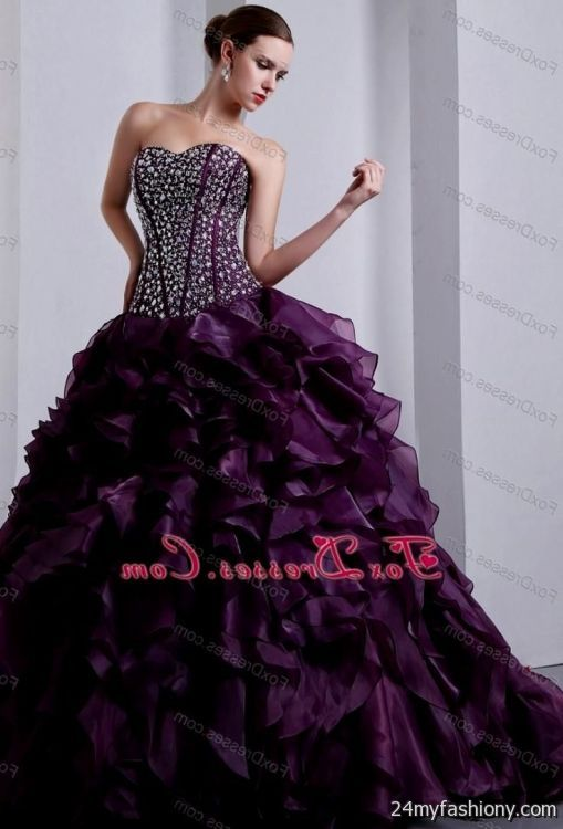 Dark Purple Wedding Dresses 2016 2017