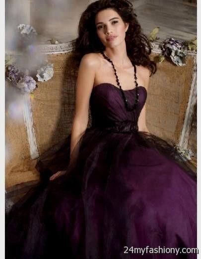 Dark Purple Wedding Dresses Looks B2b Fashion