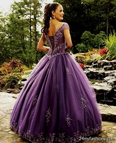 Dark Purple Wedding Dresses 2016-2017