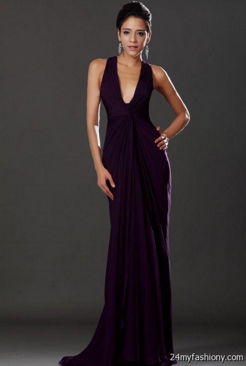dark purple wedding dresses 2016-2017 | B2B Fashion