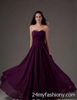 Dark Purple Wedding Gowns 2016 2017