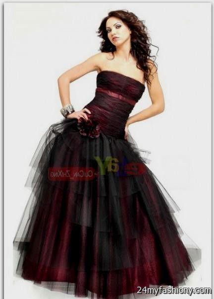 dark red and black prom dress 2016-2017 » B2B Fashion