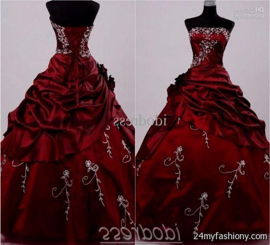 Dark Red Ball Gown - Missy Dress