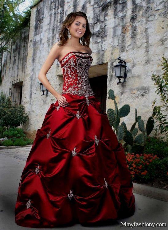 Dark Red Ball Gown Prom Dresses Looks B2b Fashion