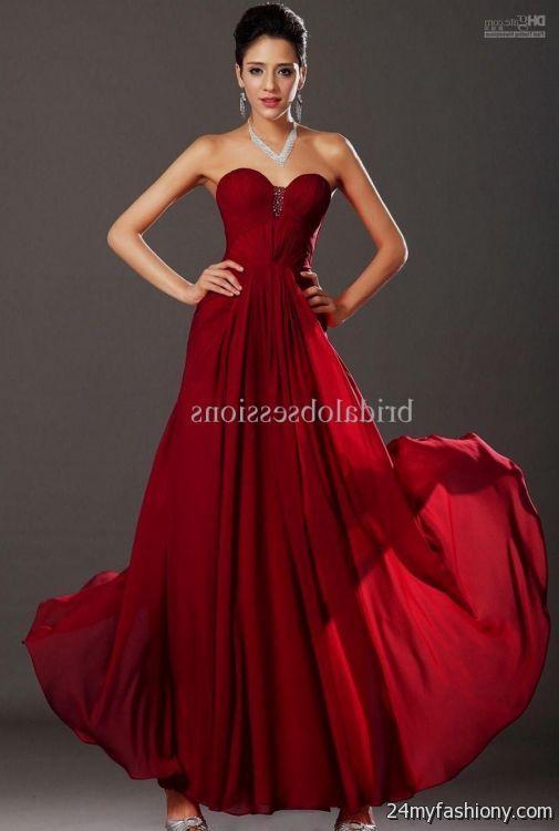 dark red evening gown 2016-2017   B2B Fashion
