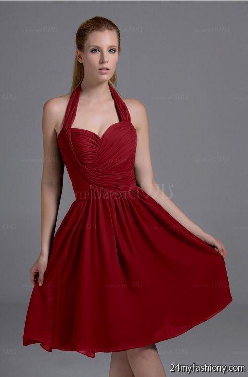Simple Dark Red Dress