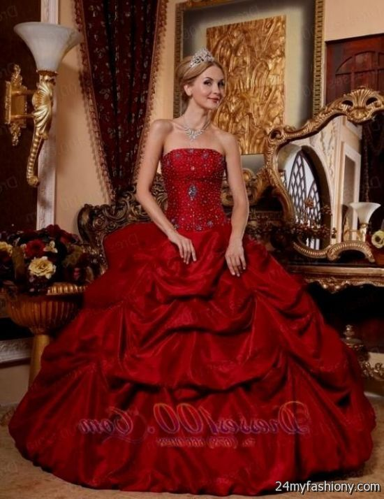 dark red puffy quinceanera dresses - 66.5KB