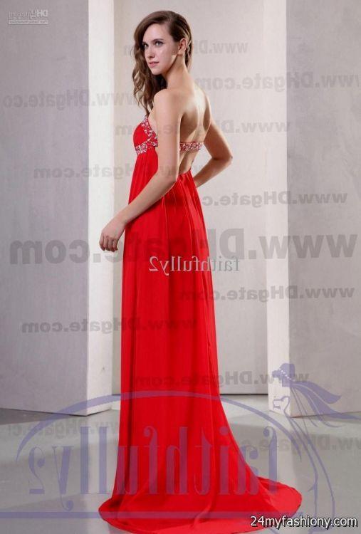 Strapless dark red prom dresses 2017