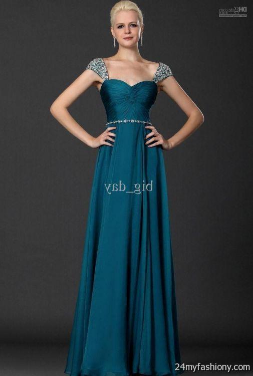 Dark Teal Prom Dresses Looks B2b Fashion