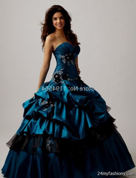 Pictures Of Dark Turquoise And Black Quinceanera Dresses Www
