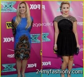 demi lovato red dress x factor 20162017 b2b fashion