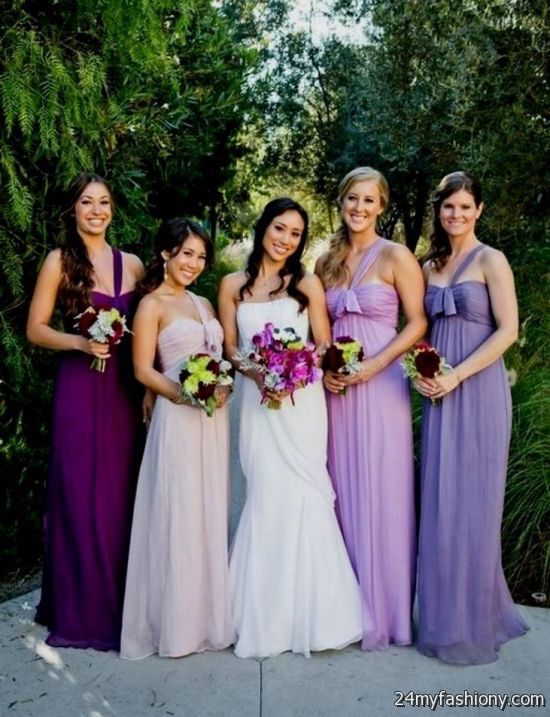 Diffe Color Bridesmaid Dresses Purple 2016 2017 B2b Fashion