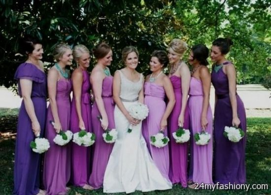 Diffe Shades Of Purple Bridesmaid Dresses Wedding Ideas