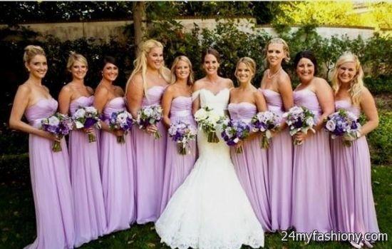 bridesmaid dresses colours 2017