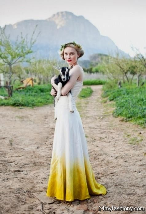 Dip dye wedding dress 2016 2017 b2b fashion for Dyeing a wedding dress professionally