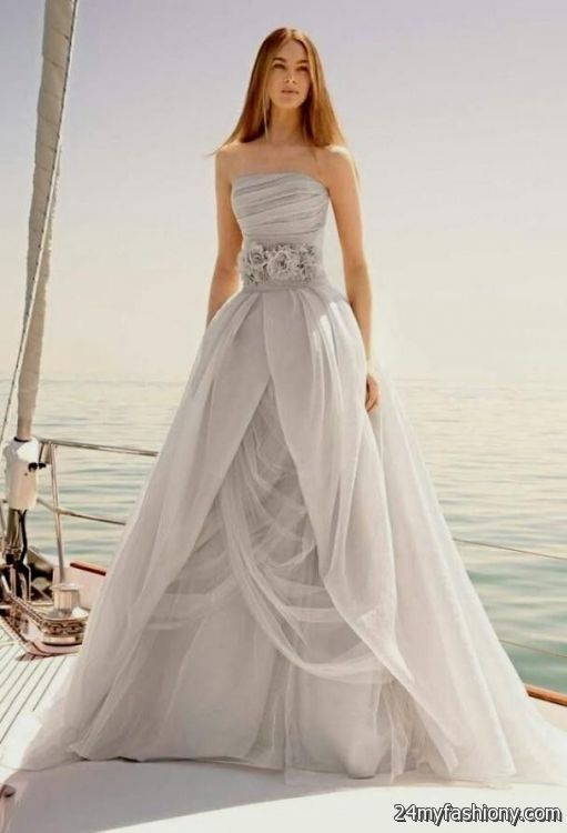 Dove gray wedding dress 2016 2017 b2b fashion for Gray dresses for a wedding