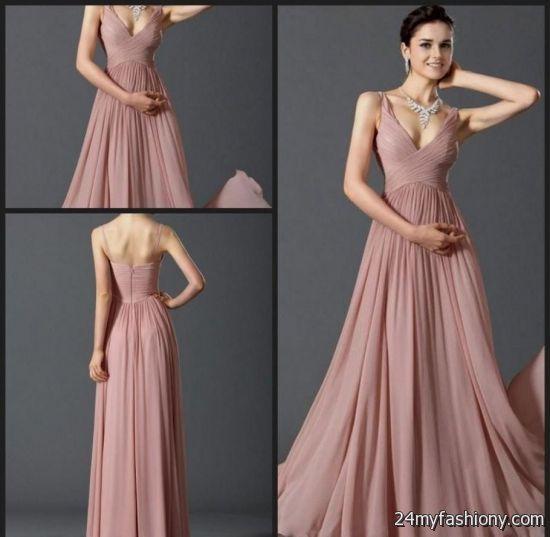 Rose Bridesmaid Dresses Long