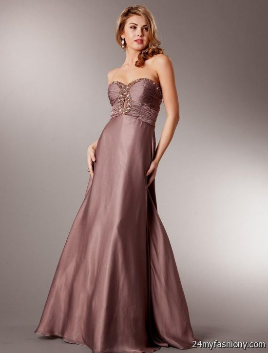 Dusty Rose Colored Prom Dresses