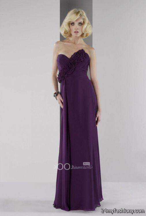 eggplant bridesmaid dresses under $100 2016-2017