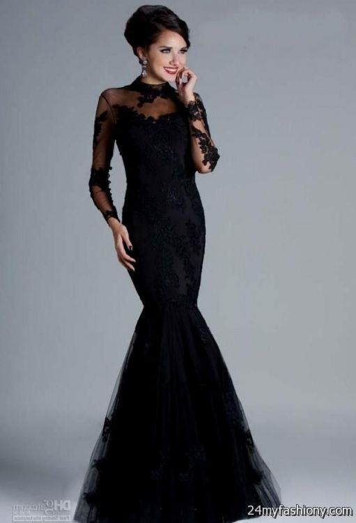 elegant black dresses - Dress Yp