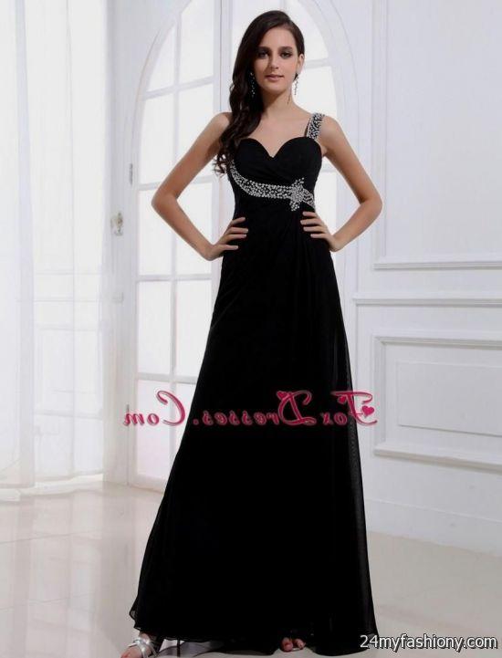 elegant black prom dresses - photo #26