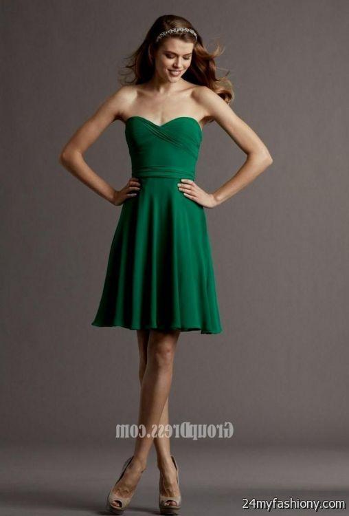 emerald green chiffon bridesmaid dresses 20162017 b2b