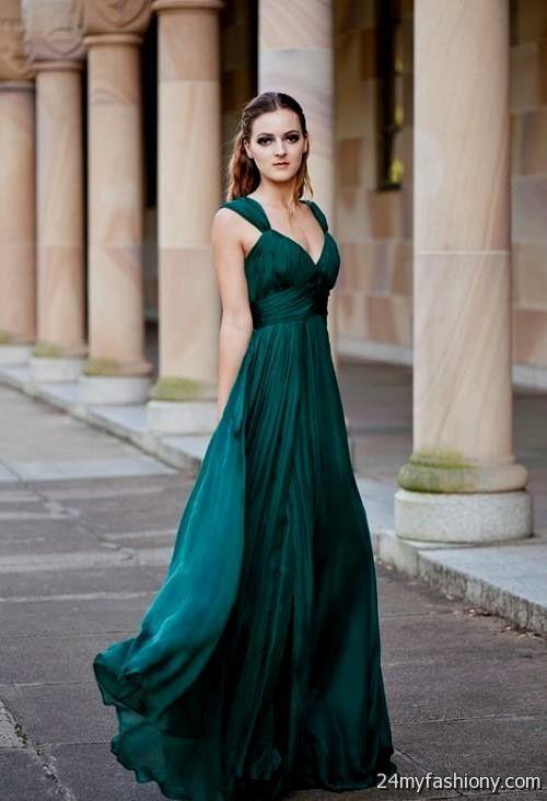 emerald green dress looks b2b fashion