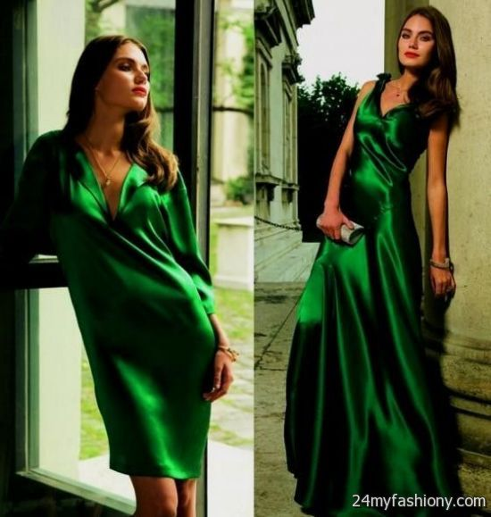 emerald satin gown 2016-2017 » B2B Fashion