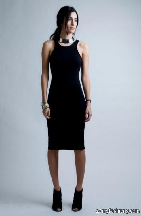 Black midi dress tumblr color