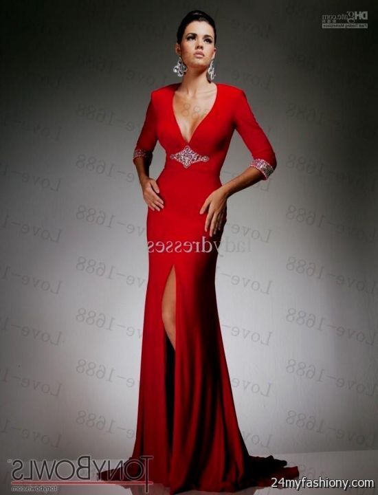 fitted red evening gowns - photo #3