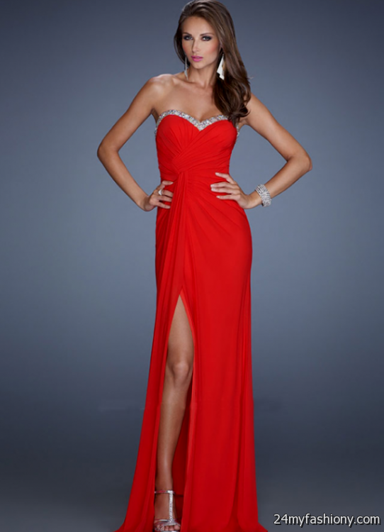 fitted red evening gowns - photo #9