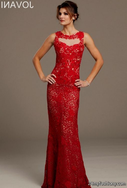 fitted red evening gowns - photo #7
