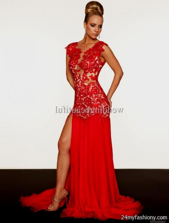 fitted red evening gowns - photo #5