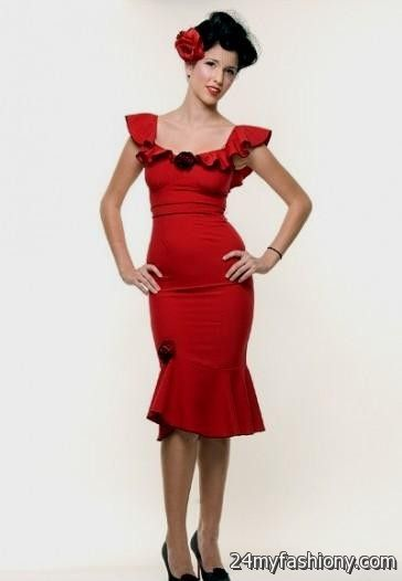Flamenco style prom dresses