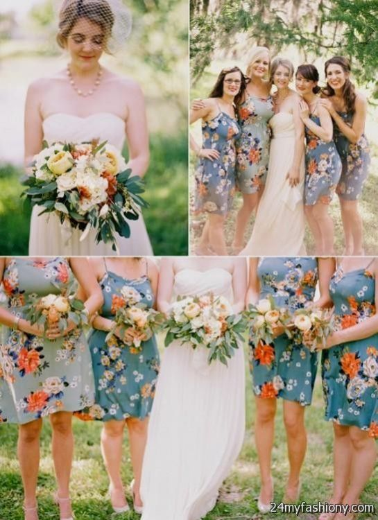 33 Fl Printed Bridesmaid Dresses Hywedd Com