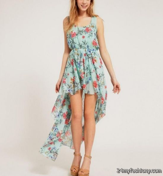 Floral High Low Dresses Tumblr - Missy Dress