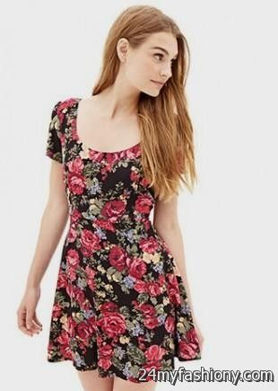 floral skater dress forever 21 2016-2017 » B2B Fashion