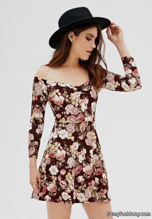 floral skater dress forever 21 2016-2017 | B2B Fashion