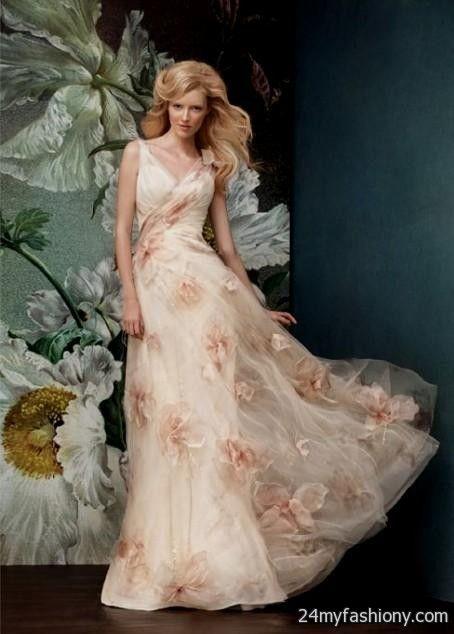 Floral wedding dress 2016 2017 b2b fashion for Floral wedding dresses 2017