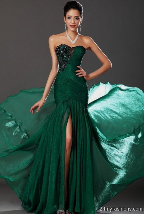 Forest Green Prom Dress Looks B2b Fashion