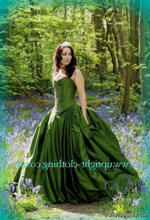 Forest green wedding dress 2016 2017 b2b fashion for Forest green wedding dress