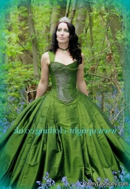Forest green wedding gowns 2016 2017 b2b fashion for Forest green wedding dress