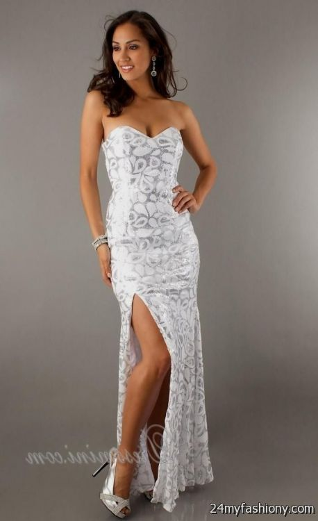 formal white sequin dress 2016-2017 | B2B Fashion