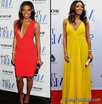 Gabrielle Union White Prom Dress 2014 BET Awards Red