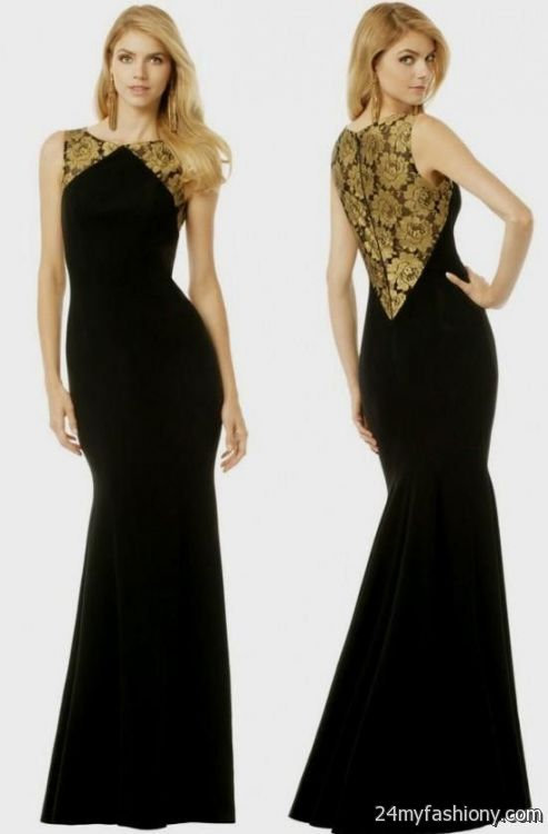 Gold And Black Dresses Bridesmaid 2016 2017 B2B Fashion