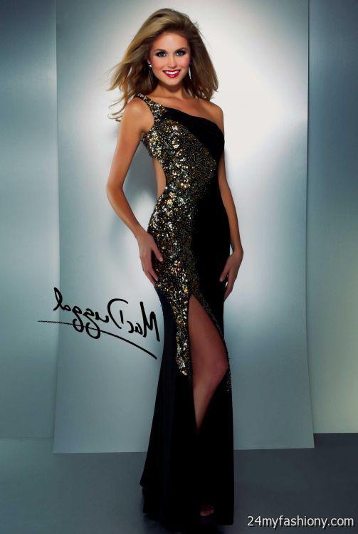 gold and black sequin prom dress 2016-2017 » B2B Fashion