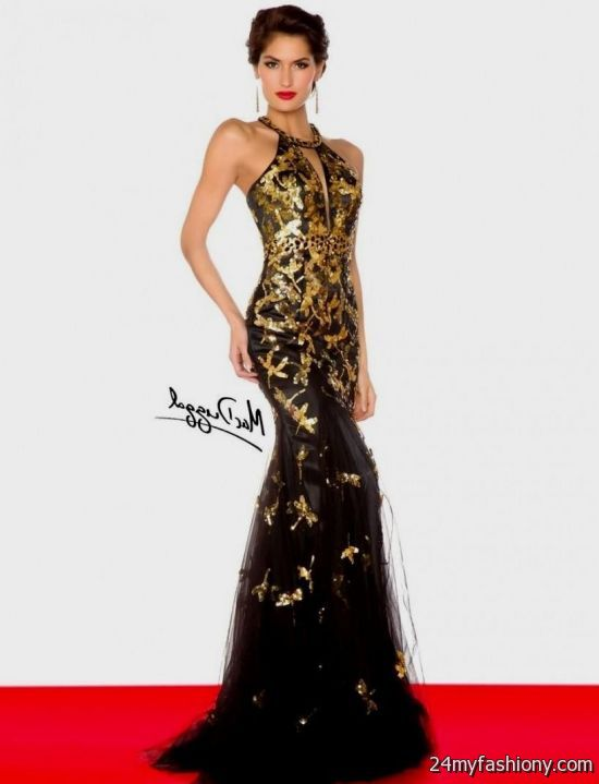 gold and black sequin prom dress 2016-2017 » B2B Fashion